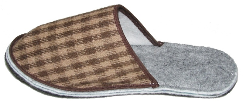 Filcové papuče - nazouváky s plnou špicí