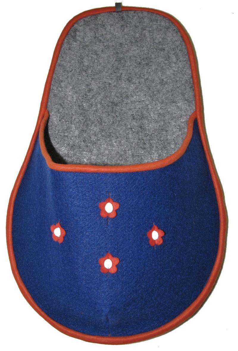 Kapsář na papuče - modrý