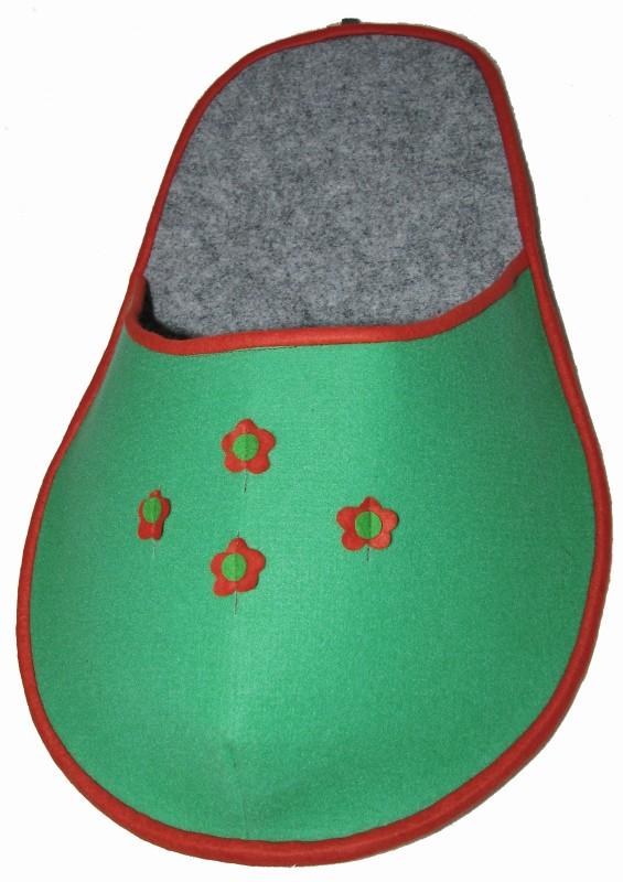 Kapsář na papuče - zelený