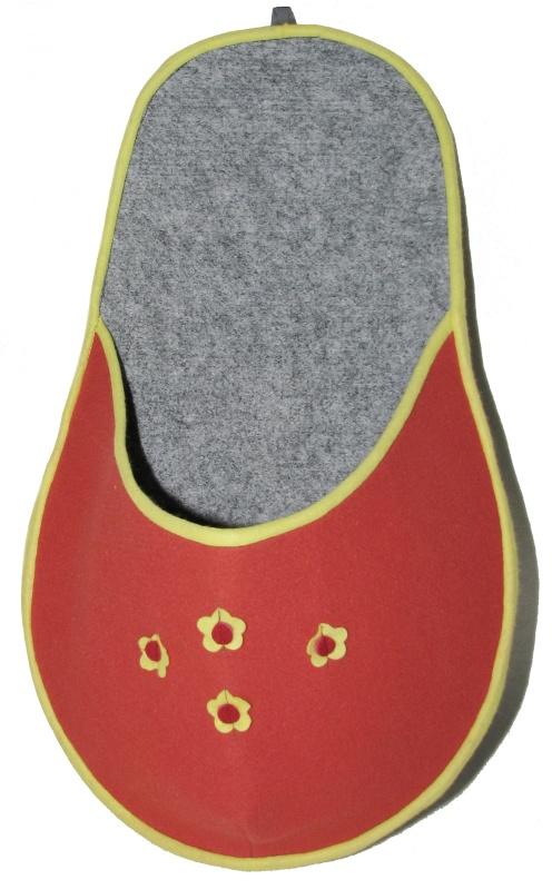 Kapsář na papuče - oranžový